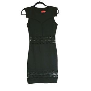 COPY - Get Laud! Black Peekaboo Bodycon Dress sz S